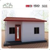 Villa d'acciaio della costruzione prefabbricata del pannello a sandwich delle lane di colore EPS/PU/Rock/lane di vetro