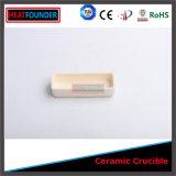 Crisol de cerámica del alúmina de la pureza elevada del uso del laboratorio