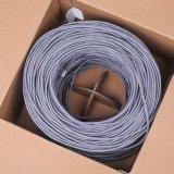 Цвет серого цвета куртки проводника LSZH/PVC Cu кабеля LAN Cat5e кабеля сети FTP OEM UTP
