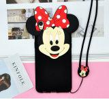 iPhone7 mobiele Shell van de Telefoon Appel 6s Mickey Minnie het Mobiele Silicone van het Oor van Mickey van de Bescherming van de Telefoon het Zachte Beeldverhaal van het Geval
