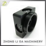 O OEM/moagem CNC ODM 6061 Alumínio anodizado dura preta caso USB da estrutura da tampa traseira do telefone da base da câmara