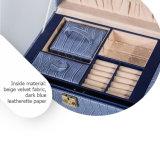 Rectángulo de regalo azul de la joyería de Crocskin del Multi-Cajón con estilo de lujo