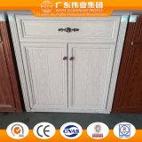 Governo di alluminio di colore di legno del grano con la trasparenza selezionata del cassetto