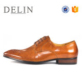 Soem-Fabrik-Form bereift Mann-echtes Leder-Fußbekleidung