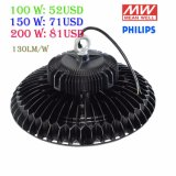 TUVのセリウムUL MeanwellドライバーOsram/Nichia/Philips SMD3030高い湾の照明100With150With200With300W倉庫産業UFO LED高い湾ライト