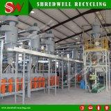 Pneu Waste inteiro de capacidade elevada que Shredding a planta que obtem o pó da borracha 30-120mesh