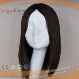 Lleno de color negro de encaje pelo Virgen peluca delantera (PPG-L-01576)