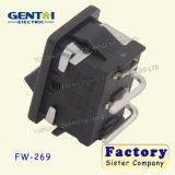 interruptor de eje de balancín del Pin CQC T85 de 6A 250VAC 2