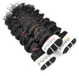 Перуанской глубокую вьющихся волос для необработанной заготовки Virgin (Категория 9A)