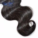 安い品質インドボディ波の人間のバージンの毛のよこ糸