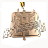 De aangepaste 3D Medaille van de Toekenning van het Thema van de Gymnastiek van het Embleem Gouden