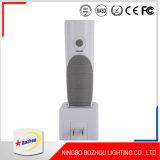 Luz recarregável do diodo emissor de luz, luz de múltiplos propósitos do sensor da noite