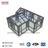 L'aluminium vert moderne solarium, salle de petit soleil en aluminium