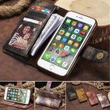 Retro Geval van de Dekking van de Tik van de Portefeuille van de Magnetische Kaart van het Leer van de Kleur Pu voor Nota 8 S8 S7/iPhone X van Samsung