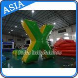 Forma verde inflável comercial da forma redonda X do depósito de Paintball