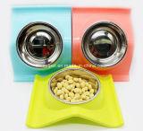 Anti bols d'aliments pour chiens d'animal familier d'acier inoxydable de glissade de type neuf