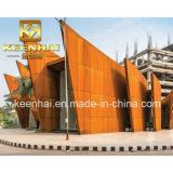 Cortenの鋼板壁の芸術のデザインのための装飾的なクラッディングの羽目板