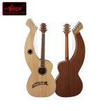 Abeto macizo la parte superior de Guitarra Acústica guitarra arpa fabricado en China