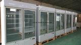 Congelatore dritto della visualizzazione del doppio portello di vetro verticale per il gelato
