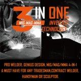 3en1 MMA/MAG/MIG IGBT Invertr 160 una máquina de soldadura con certificado CE