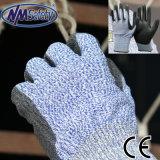 Nmsafety разрез на уровне 5 линейных PU покрытием Отрежьте защитные перчатки