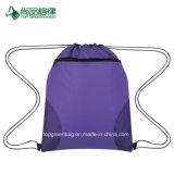 卸し売り経済的コートサイドのスポーツポリエステルドローストリングのパック袋をカスタマイズする