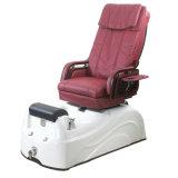 Presidenza rosso scuro di Pedicure con il massaggio d'impastamento dello schienale di promozione del tubo di scarico