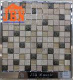 Mármol Crema Marfil, resina, vidrio y piedra de Travertino Mosaic (M823056)