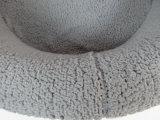 2018 شتاء جديدة شعبيّة سوداء رماديّ دافئ [أم] صنع وفقا لطلب الزّبون كبير زبد مستديرة محبوب وسادة [دوغ هووس]