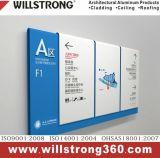 Panneau composé en aluminium de qualité faite sur commande pour le signe de construction