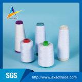 白いポリエステル編むヤーンの刺繍の糸