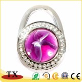 Bride de fixation pliable en cristal promotionnelle en métal de sac de bourse