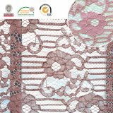 Tissu de lacet de broderie, configuration florale, mode et beau pour Madame africaine et suisse Dress Ln10073