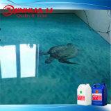 2018 Haut de la conception liquide transparent en PVC Non-Toxic 3D-de-chaussée de la peinture époxy