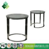 2017安いRonfのステンレス鋼のガラスコーヒーテーブル