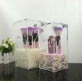 Tiroirs cosmétiques acryliques de caisse de cadre d'organisateur de renivellement avec le couvercle