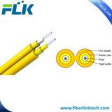 Comunicazione di FTTH e cavo di goccia di fibra ottica duplex dell'interno di telecomunicazione