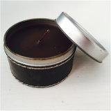 Cera de soja perfumada Vela de color estaño Giftcandle de promoción de la decoración del hogar