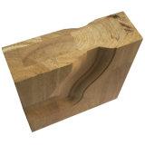 Portello di legno solido della doppia entrata esterna di lusso con vetro