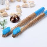 円形のハンドルが付いている自然なタケおよび木タケ歯ブラシ
