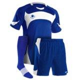 Bester Verkaufs-preiswerter Zoll Soem-blauer Fußball Jersey stellte für Mens ein