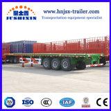 40FT 3 recipiente de transporte plana do eixo Truck semi reboque com Certificado ISO CCC