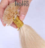 Clique duas vezes elaborados 14 Polegadas queratina loira U cutícula da ponta do cabelo alinhado