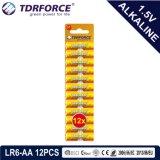 Batterie sèche alcaline avec ce jouet approuvé pour la plaquette 9PCS (LR6-AA taille)