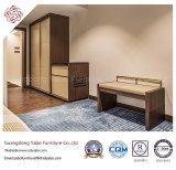Muebles del dormitorio del hotel de la estrella con los muebles laminados fijados (YB-W33)