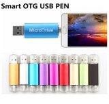 선전용 OTG는 기억 장치 이동 전화 인조 인간을%s USB 드라이브 이중으로 한다