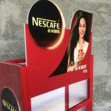 Salvar el estante de visualización derecho de la bebida del alimento del café del suelo estable del metal