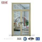 Porte en aluminium thaïe de tissu pour rideaux de porte de bâti de portes en verre intérieures