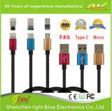 Nylon Gevlechte 2.4A het Laden van USB Kabel
