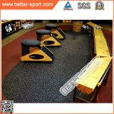 La strumentazione di ginnastica mette in mostra la pavimentazione, pavimentazione di gomma di sport